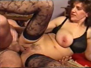 Granny older women & younger boys creampie gangbang