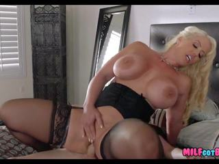 Blonde Cougar gets Him off on Wedding Day: Free HD Porn 93