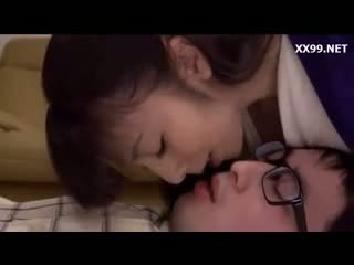 brunetă, japonez, sărutat