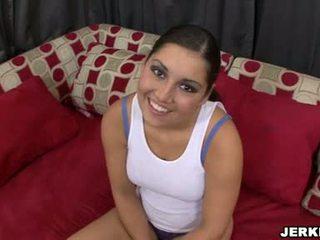 Słodkie sexually excited emma cummings pokaz od jej sporty curves