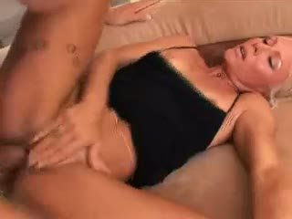 Blonde Milf Caresse Get Wild As She Get Fucked In The Sofa.