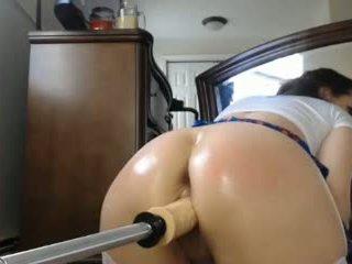 Girl rides her fuck machine like a champ