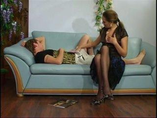 الروسية ناضج عمة مع شاب صبي.