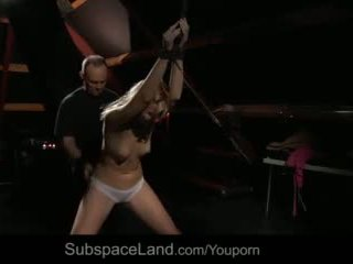 Young Submissive Slut Tied Waxed Greedy Deepthroat Cock Drilled Video