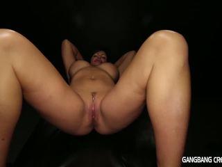 Gangbang Creampie Horny milf gets her desire