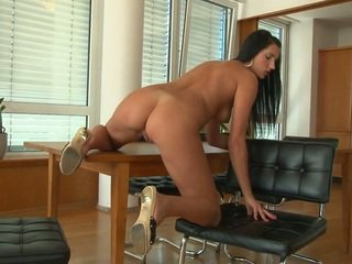 Dark Haired Babe Melissa Ria Toys Nearly Herself