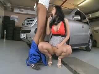 porno, vidět velký ideální, nový bruneta vidět