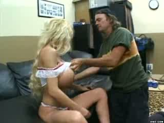 Blonde chick with massive tits gets pounded