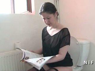 Amadora francesa mãe seduces gajo e gets dela cu nailed