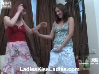 Afina And Jaclyn Giving The Kiss Sweethearts Inside Action