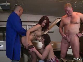 Saksalainen punapää teini-ikä paying the mechanic, porno e2