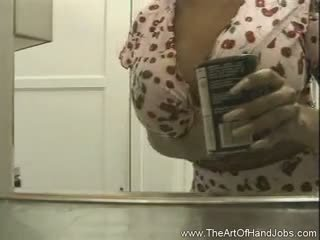 Giant Tits In The Kitchen HJ