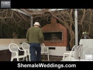 Kuum shemale weddings stseen starring senna, rabeche, alessandra