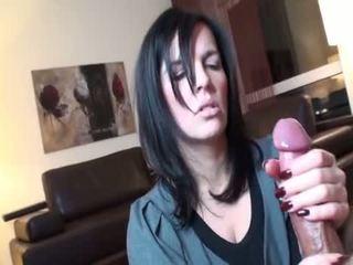 brunetka, seks oralny, deepthroat