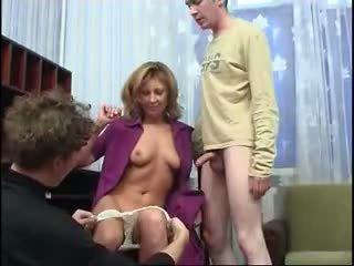 big tits, gang bang, moms and boys