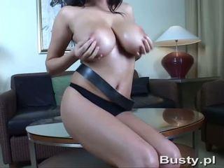 big tits, oiled, milf