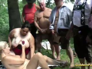Extreme Gangbang in Nature, Free German Porn f9