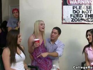 Slutty sorority girls katelu hard with frat boys