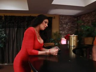 Big titted tattooed romi udan takes pisser from her boyfriends son