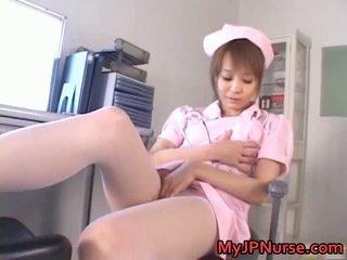 Laba aziāti medmāsa has rotaļlieta penetration