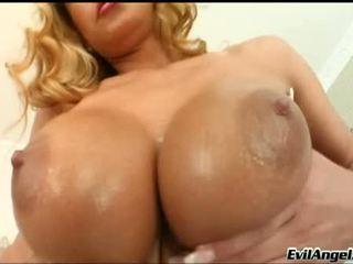 stora bröst, chick, lockande