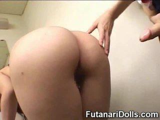 japansk, futanari, hårig