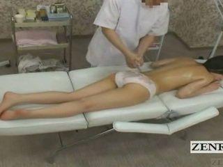 Subtitled cmnf enf 日本语 青少年 女学生 屁股 按摩