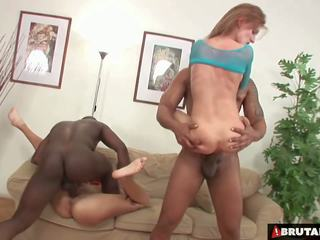 Brutalclips - monster cocks rip mõlemad tema holes: hd porno bc