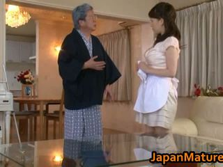 בוגר יפני אישה זיון שפופרת