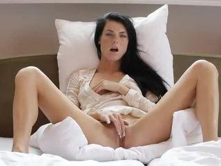 Sweet girl Margot masturbates her pussy