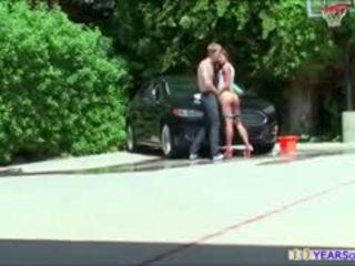Bootylicious carwash vauva amirah adara gets anaali rammed