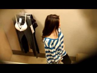 Ceiling Cam At Fitting Room - Nice Girls With Nice Tits