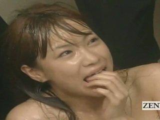 Subtitled enf cmnf луд японки изпразване spattered учител