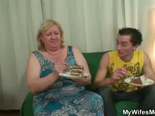 He is lured into sex by chubby mother ...