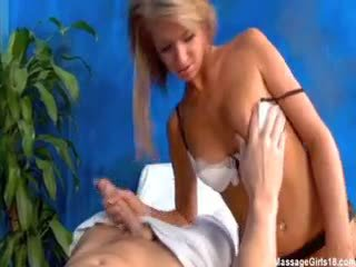 Cute 18 Year Old Massage Therapist Ella Gives A Little More