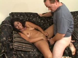Young indian getting fucked on the family sofa