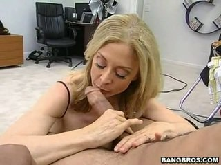 Sensuous momma nina hartley sits onto لها heated muff pie onto ل sausage مثل ل dissolute راعية البقر