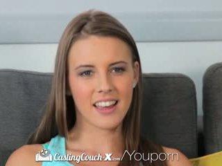 Hd castingcouch-x - newcomer lia ezra gets rosto sprayed com ejaculações