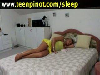 金发 孩儿 性交 而 睡眠 在 一 旅馆 室
