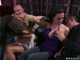 Rachel roxx og rachel starr spiller med kvinne lads