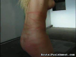 Bra samling av träldomen, herravälde, sadistiska, masochismen porr klipp från brutala punishment