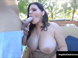Kuba putri angelina castro fucks dia kolam renang boy's kontol!