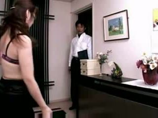 Wife massage watching