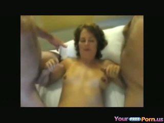 Reif ehefrau gets used von ein pärchen von guys