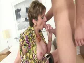 Mature lady takes advantage of doll gu...