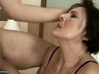 Horny old maid getting fucked hard