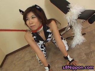 Adoleshent aziatike kurvë screwed në të saj fustan