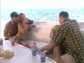 British slut Yvonne gets fucked on a yacht