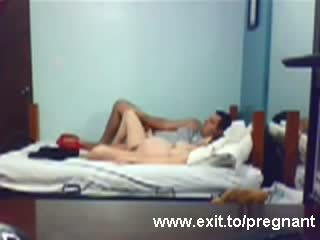 Spying Pregnant teen Louise riding her BF Video