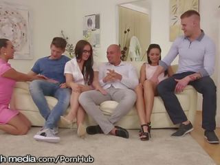 group sex, doggystyle, piercings